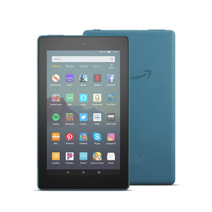 Fire 7 Essentials Bundle including Fire 7 Tablet (Twilight Blue, 32GB),  Standing Case (Twilight Blue), and Nupro Anti-Glare Screen Protector