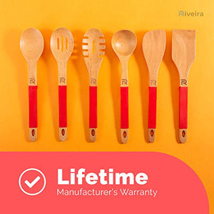 Riveira Spaghetti Spoon Cute Fork Cooking Gift Nonstick 13-Inch Kitchen Utensil Pasta Spoon with Premium Quality Silicone Handle for Everyday Use