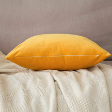 Load image into Gallery viewer, MIULEE Pack of 2 Velvet Pillow Covers Decorative Square Pillowcase Soft Soild Orange Yellow Cushion Case for Sofa Bedroom Car 22 x 22 Inch 55 x 55 cm