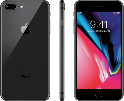 Apple iPhone 8 Plus 64GB Gray (GSM Unlocked) SmartPhone W/ 3 Months Free Service