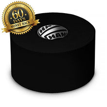 Load image into Gallery viewer, Hampton Adams Black Athletic Tape - 45ft Per Roll - No Sticky Residue & Easy to Tear - for Sports Athletes & Crossfit Trainers as First Aid Injury Wrap: Fingers Ankles Wrist - 1.5 Inch x 15 Yards per Roll (3 Pack)