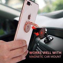 Load image into Gallery viewer, Phone Ring Holder Finger Kickstand - FITFORT 360° Rotation Metal Ring Grip for Magnetic Car Mount Compatible with All Smartphone-Rose Gold 5823833997