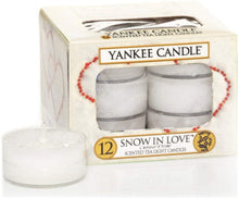 Load image into Gallery viewer, Yankee Candle Snow in Love Tealight Candles, White