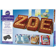Load image into Gallery viewer, Wilton Countless Celebrations Set, 10-Piece Letter and Number cake pan, STD 2105-0801