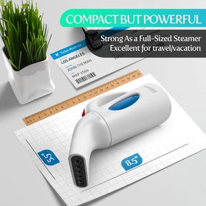 iSteam Steamer for Clothes [Powerful Technology] Dry Steam 7-in-1. Handheld Garment Wrinkle Remover. Portable Mini Steam Iron, Clothing and Fabric Accessory. for Home/Travel [H106] - 220V
