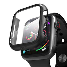 Load image into Gallery viewer, pzoz Compatible Apple Watch Series 5 / Series 4 Case with Screen Protector 44mm Accessories Slim Guard Thin Bumper Full Coverage Matte Hard Cover Defense Edge for Women Men New Gen GPS iWatch (Black)