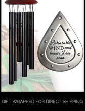 Load image into Gallery viewer, Memorial Wind Chimes COMFORT 17 inch Gift Package Wind Chimes in Memory of Loved One Listen to the Wind Memorial Garden