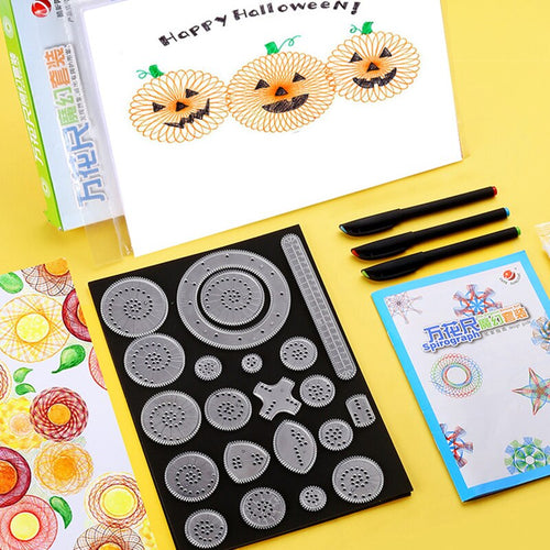 Diversified art painting template flower ruler education teaching stationery set children gift prizes