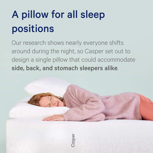 Casper Sleep Pillow for Sleeping, Standard, White