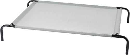 Basics Cooling Elevated Pet Bed, Large (51 x 31 x 8 Inches), Grey 2007L-GY