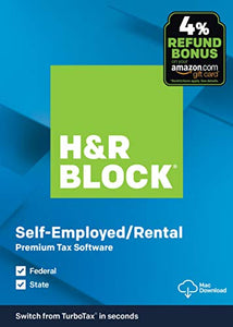 H&R Block Tax Software Premium 2019  with 4% Refund Bonus Offer [ Exclusive] [Mac Download]