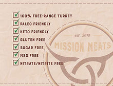 Load image into Gallery viewer, Keto Sugar Free Sampler Pack Grass Fed Beef Sticks & Bars Healthy Free Range Turkey Sticks Gluten MSG Nitrate & Nitrite Free Paleo Friendly Snacks Mission Meats 12 Count