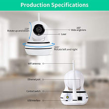 Load image into Gallery viewer, AIIYME Dog Camera, Pet Camera with Interactive Laser Toy Wireless Baby Monitor FHD 1080P WiFi Enabled Cat Camera 360° Indoor Security Camera 160°Wide Angle 2-Way Audio Night Vision Sound Motion Alert for Pet White