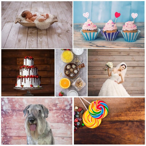 Polyester Wrinklefree Wood Photographic Background Photography Birthday Wedding Party Backdrop Baby Shower Cake Food Photo Booth