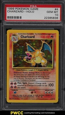 1999 Pokemon Base Set Holo Charizard #4 PSA 10 GEM MINT
