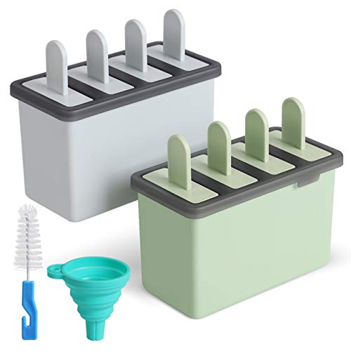 Kootek Popsicle Molds Sets 8 Ice Pop Makers Reusable Ice Cream Mold -...
