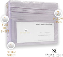 Load image into Gallery viewer, 1500 Supreme Collection Extra Soft California King Sheets Set, Lilac - Luxury Bed Sheets Set with Deep Pocket Wrinkle Free Hypoallergenic Bedding, Over 40 Colors, California King Size, Lilac
