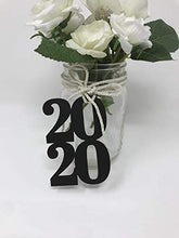 Load image into Gallery viewer, Bella Party Store 2020 cutout - glitter Paper Die Cut, 2020 glitter decorations, Graduation party - class of 20- Graduation party Decor- 12ct