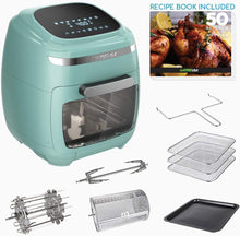 Load image into Gallery viewer, GoWISE USA GW77723 11.6-Quart Air Fryer Toaster Oven with Rotisserie & Dehydrator + 50 Recipes, Vibe Mint