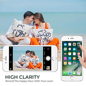 "HTECHY Compatible with iPhone 8 Plus Screen Replacement White(5.5"") Display with 3D Touch Screen LCD Digitizer Assembly + Repair Tools Kit Screen Protector"