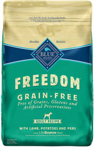 Blue Buffalo Blue Freedom Grain-Free Lamb Recipe Dry Food for Adult Dogs, 11 lbs.