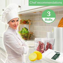 "Load image into Gallery viewer, Premium!! O2frepak 3 Pack 8""x20' Rolls Food Saver Vacuum Sealer Commercial Grade Bags Rolls for Food Saver and Sous Vide, With BPA Free Vacuum Seal Bags Rolls (Total 60 feet) VSR8X20-3Rolls 3Pack8X20 white"
