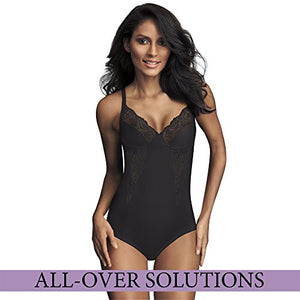 Maidenform Flexees Women's Shapewear Body Briefer with Lace , Black, 36D 1456