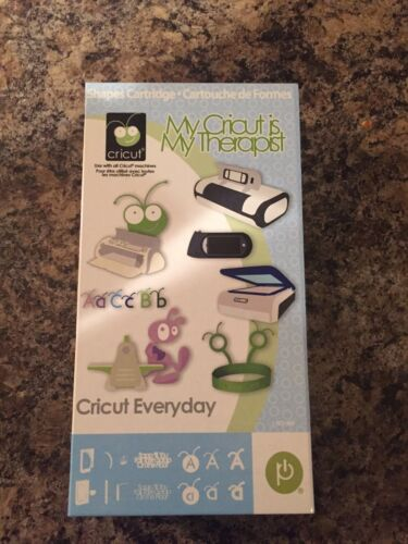 Cricut Everyday My Cricut Is My Therapist Cartridge. Rare - Hard To Find