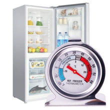 Load image into Gallery viewer, 2 Pack JSDOIN Freezer Refrigerator Refrigerator Thermometers Large Dial...