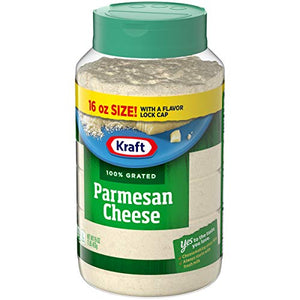 Kraft Grated Cheese, Parmesan Cheese, 16 oz Jar (Pack of 3) 00021000010868 16 Ounce (Pack of 3) Original Version