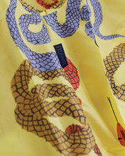 Load image into Gallery viewer, BAGGU Standard Reusable Shopping Bag, Ripstop Nylon Grocery Tote or Lunch Bag, Yellow Snakes