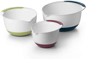 OXO Good Grips 3-Piece Mixing Bowl Set with Red/Green/Blue Handles