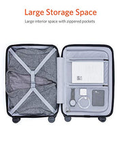 Load image into Gallery viewer, Domie NINETYGO Carry On Luggage with Spinner Wheels,20 Inch Hardside Lightweight Hardshell TSA Compliant Suitcase with Front Pocket Lock Cover Grey