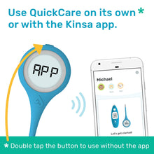 Load image into Gallery viewer, Kinsa Smart Thermometer for Fever - Digital Medical Baby, Kid and Adult Termometro - Accurate, Fast, FDA Cleared Thermometer for Oral, Armpit or Rectal Temperature Reading - QuickCare