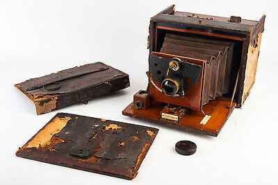 Kodak No 5 Folding Satchel 5x7'' Large Format Roll Film Camera WORKS RARE 1st Ed