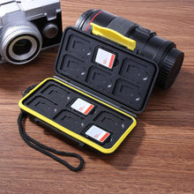 Load image into Gallery viewer, Large Capacity 12 Slots Waterproof Memory Carase For SD/Micro SD/TF Cards Storage Holder Box Protector Cover