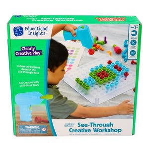 Educational Insights® Design & Drill® See-Through Creative Workshop