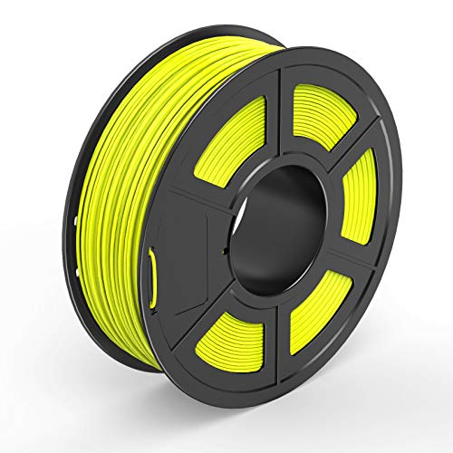 TECBEARS PLA 3D Printer Filament 1.75mm Yellow, Dimensional Accuracy +/- 0.02...