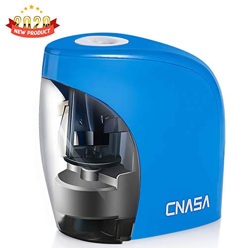 CNASA Electric Pencil Sharpener, Automatic Pencil Sharpener for NO. 2/Colored...