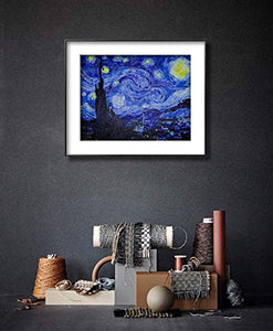 "Paint by Numbers for Adults by BANLANA, DIY Adult Paint by Number Kits for Beginners on Canvas Rolled 16"" by 20"" (Van Gogh The Starry Night) Frameless"