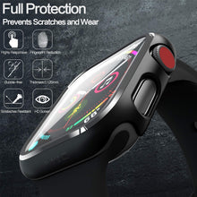 Load image into Gallery viewer, pzoz Compatible Apple Watch Series 2 / Series 3 Case with Screen Protector 42mm Accessories Slim Guard Thin Bumper Full Coverage Matte Hard Cover Defense Edge for Women Men New Gen GPS iWatch (Black)