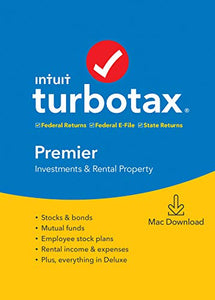 Intuit, Inc. TurboTax Premier + State 2019 Tax Software [ Exclusive] [Mac Download]