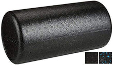 Load image into Gallery viewer, Basics High-Density Round Foam Roller, Black and Speckled Colors