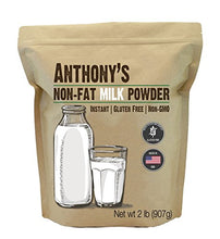 Load image into Gallery viewer, Anthony's Goods Anthony's Non Fat Milk Powder, 2lbs, Instant, Gluten Free & Non GMO 2 Pound