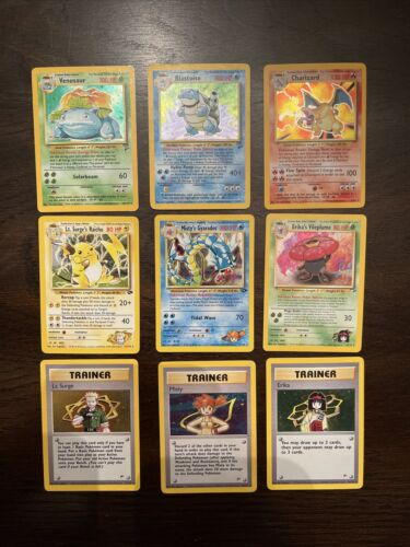 Pokemon Cards - Vintage Original Set, Rare, Holo Rare, Gym Leaders RARE SET