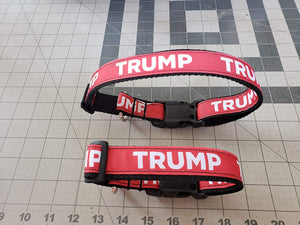 Trump Themed Dog Collars Adjustable 2 Sizes