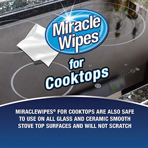 MiracleWipes for Microwaves and Cooktops - Removes Food and Grime Buildup - (30 Count) Blue