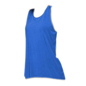 Fudule Women Tank Tops Womens Cute Workout Tops Sexy Backless Yoga Shirts Open Back Gym Running Tank Tops FDL-Tank Tops-002 Small 01 Blue