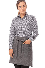Load image into Gallery viewer, Chef Works Unisex Corvallis Half Bistro Apron, Black/Steel Gray, One Size AHWXX012-BSL-0