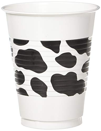 amscan Western Printed Plastic Cups, One Size, Multicolor 420140